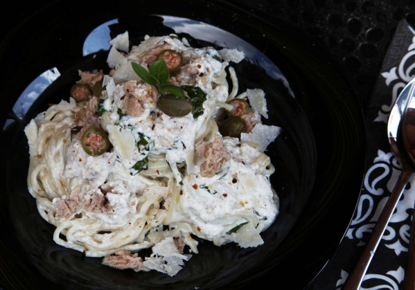 halas kapris tejszínes spagetti 4