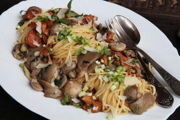 háromgombás fokhagymás spagetti 2