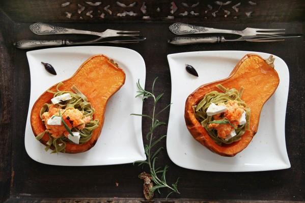 sütőtökös spenótos tészta 1