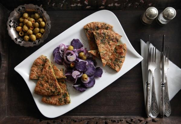 lilaburgonya saláta spenótos sajtos omlettel 1