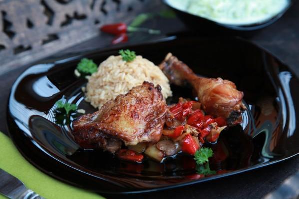 paprikaágyon sült csirkecombok 2