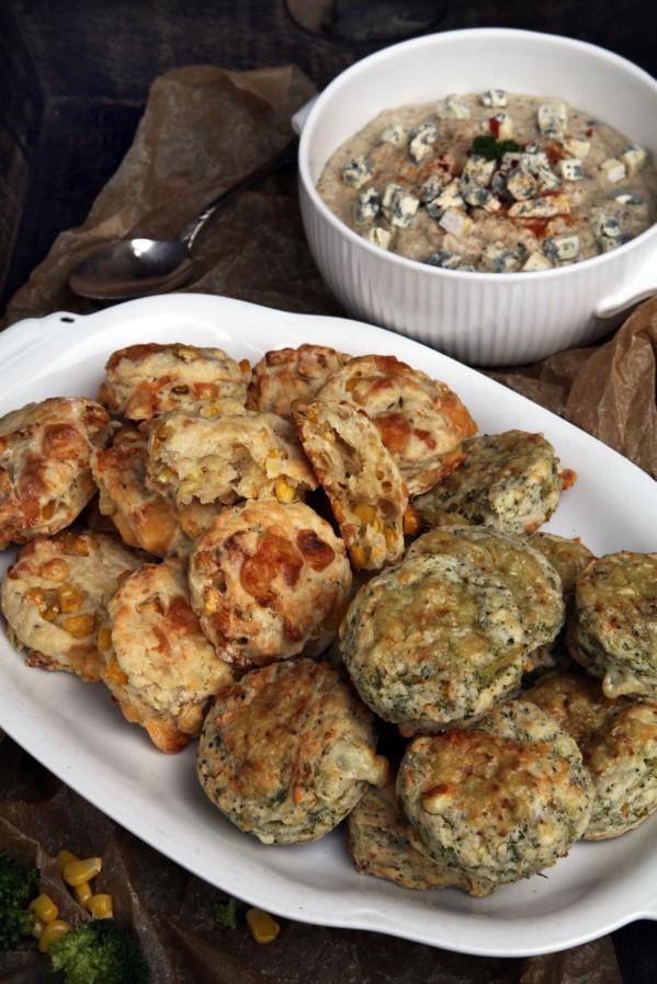 kukoricás-kakukkfüves brokkolis-kéksajtos scone 3