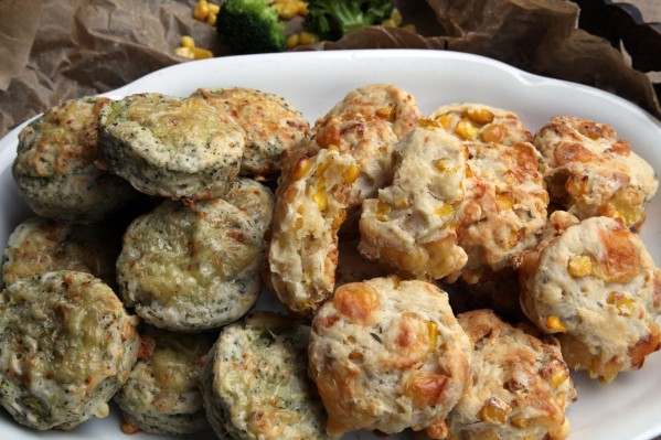 kukoricás-kakukkfüves brokkolis-kéksajtos scone 4