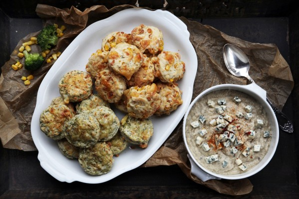 kukoricás-kakukkfüves brokkolis-kéksajtos scone 5
